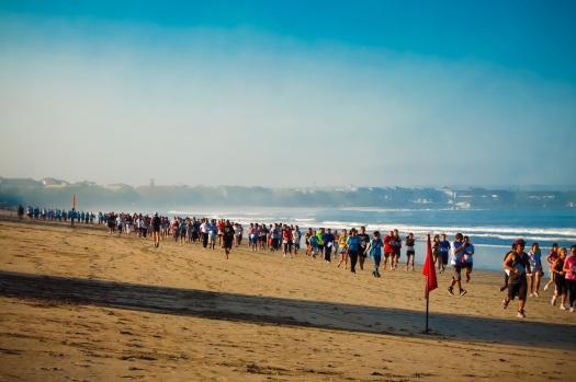 Marathon at Kuta beach