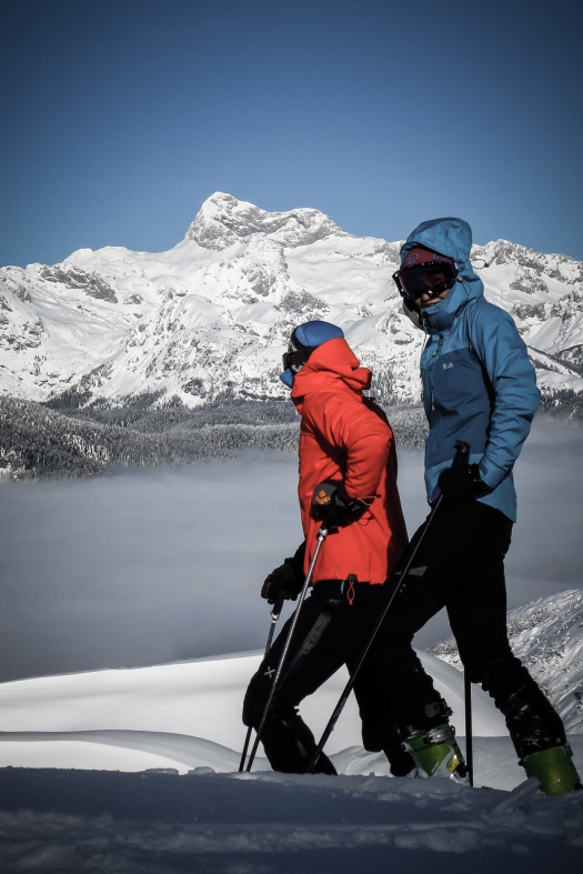 Taja's sister Monika and Urban enjoying Triglav and Himalayas (Elan ski Himalaya is one of the sickest touring skis out there)