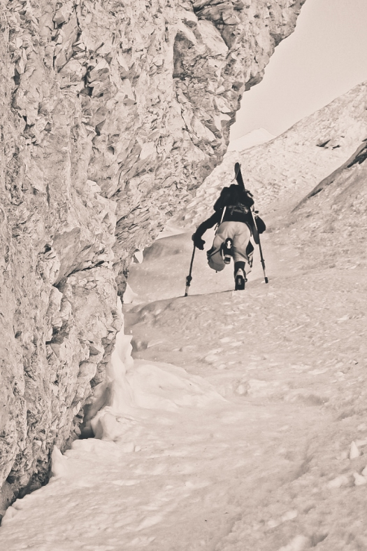 No axe and no crampons. Easy for mr. France photo: Katja Pokorn