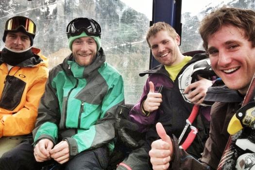Heinz, Christoph, Chris and Bob enjoying the vast area of St. Anton