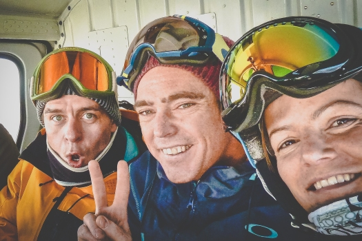 Heiz, Chris (our guide) and Susie on a random heli day