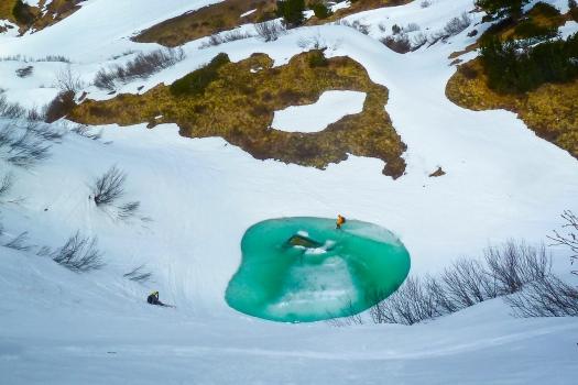 Pool skiing (photo: Susanne Wuttke)