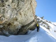 Matevž Maček on the ridge